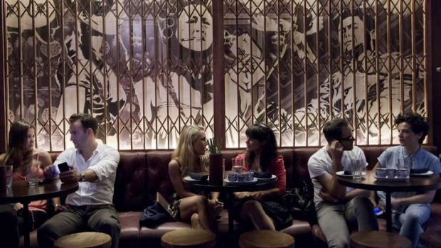 Chow Bar and Eating House is a stripped-back, savvy, gritty-but glam space.