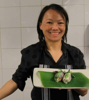 The queen of rice paper rolls, Nahji Chu.
