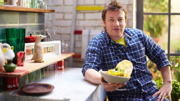 On a mission ... Jamie Oliver is opening a Ministry of Food in western Sydney.