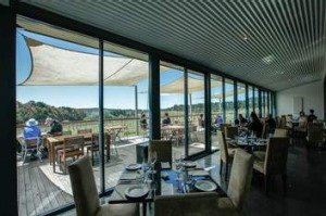 Country fare ... Biodynamic food and wine can be savoured at the Lark Hill Winery, Bungendore.