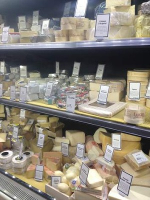 The cheese section at Ainslie IGA.
