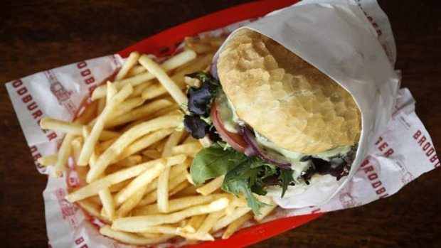 Canberra classic ... The standard Brodburger with chips.