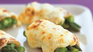 Tasty asparagus bundles make a great party starter.