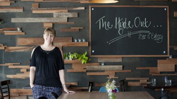Co-owner Brooke Lambert wants the Hyde Out to be 'a place for locals to come in to escape for a while'.