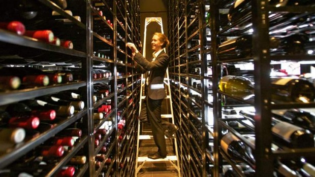 Cellar dweller: Julia Sewell in Rockpool Bar and Grill's wine vault.