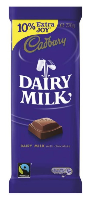 All over the place: The size of a standard Cadbury Dairy Milk block has changed several times in recent years.