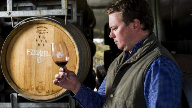 Gold: Nick O'Leary at his Bywong winery. His Nick O'Leary 2011 Shiraz has taken a gold at the NSW wine awards.