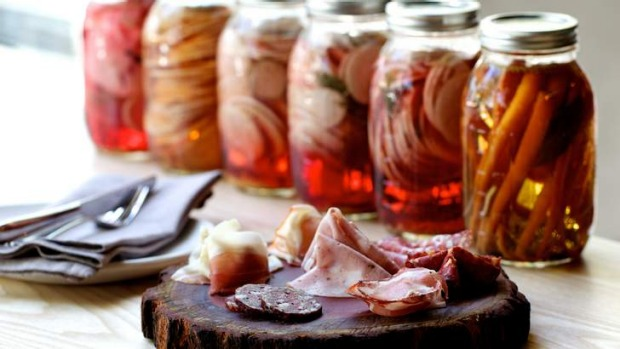 Charcuterie and pickles from Nomad.