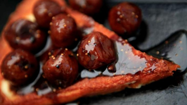 I want to eat you: Eddie Jim's photo of Hellenic Republic's saganaki with black figs.