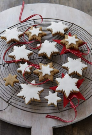 Festive gingerbread biscuits.