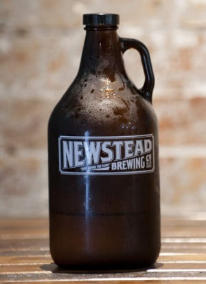 Newstead Brewing Co. will sell re-fillable large glass jugs of beer known as 'growlers'.