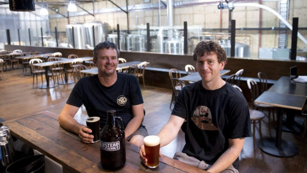 Michael Conrad and Mark Howes of Newstead Brewing Co.