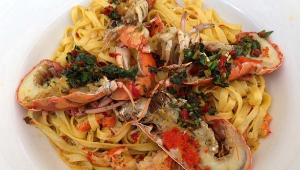 The crab and yabbie linguine.