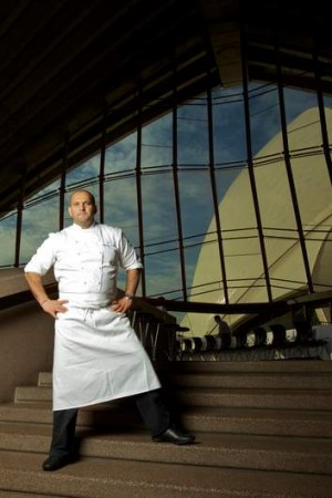 Moving on from the Opera House ... Guillaume Brahimi.