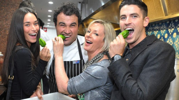 """As if you'd spend $3 million opening it here if you didn?t have the licence"": executive chef Miguel Maestre (centre ..."