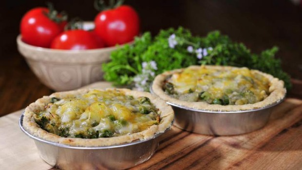 Homity vegetable pie was originally made during World War II by the British.