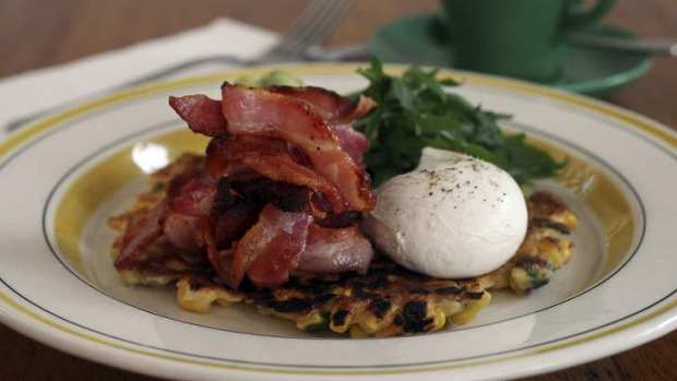 Sweet corn fritters are a delight.