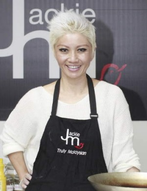 Cook-along: Jackie M. Tang hosts an online cooking show.