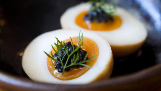 Go-to dish: Tea-smoked egg.