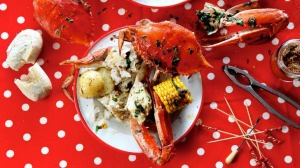 Crab boil: Count on a mess and a meal full of fun and flavour.
