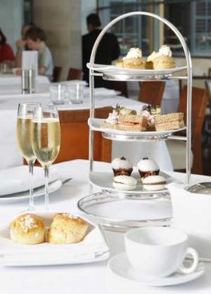 Many afternoon tea packages include a glass of sparkling wine.