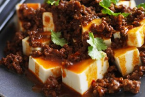 Spicy hot beef and tofu.
