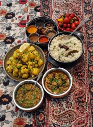 Christmas In India Food.Indian Feast For Christmas