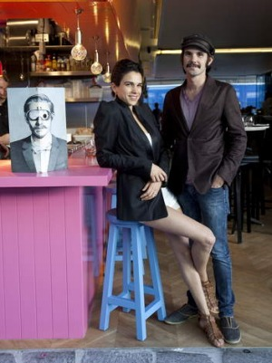 Hot spot: Regina Bueno Ros and Bildo Saravia in their Mr Moustache Bistrot & Cantina.
