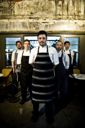 Parlour Bar's team, from left, apprentice chef Adam Farrell, sous chef Jack Walker, head chef Brad Warton, chef de ...