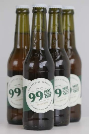 Cricket inspired ... The MOA Brewing Company SKW Pale Ale, 99 Not Out.