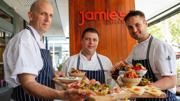 Canberra's new Jamie's Italian restaurant is open every day except Christmas Day.
