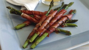 Asparagus and prosciutto.
