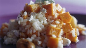Pumpkin and goat's cheese risotto.