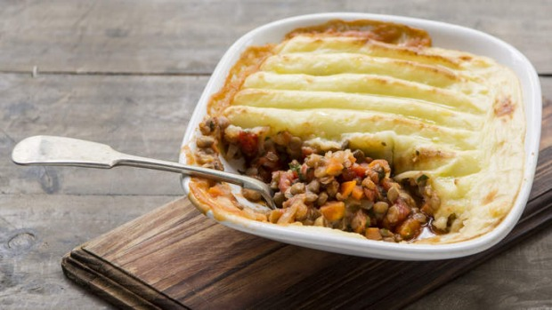 Using lentils and mushrooms in a shepherd's pie is a fantastic substitute for meat.