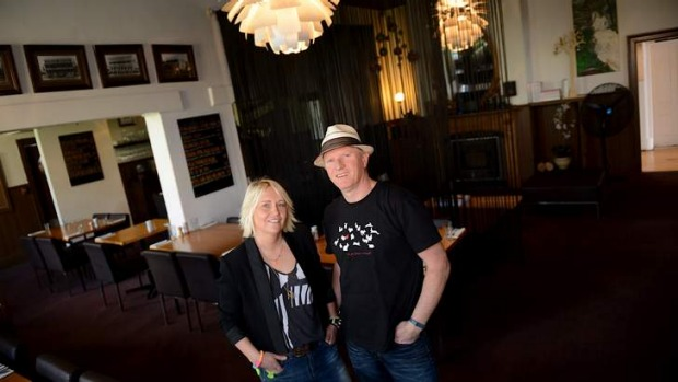 Seriously local: Avoca Hotel owners Ian Urquhart and Alison Chapman.