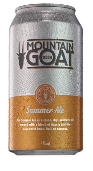 Mountain Goat Summer Ale now comes in a 375ml can.