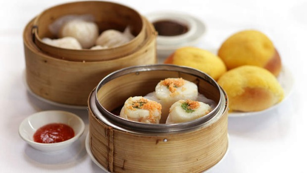 Trolley treats ... Yum cha dishes from Tai Pan, Doncaster East.