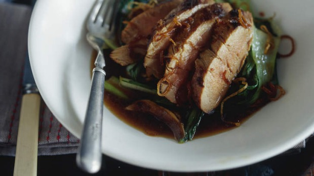 Asian-style pork fillet with bok choy and shiitake mushrooms Recipe ...