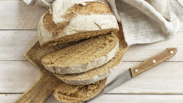 Two trends in one: sourdough and a wooden board.
