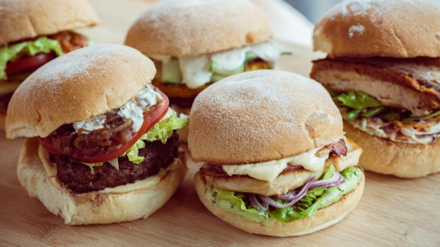 Beef, lamb, chicken and pork belly burgers will be available.