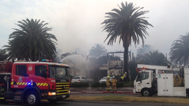 The Stokehouse restaurant was gutted by the fire.