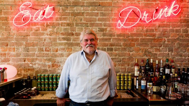 Rock'n'roll:  Iain Hewitson at his new venture Big Huey's Diner.