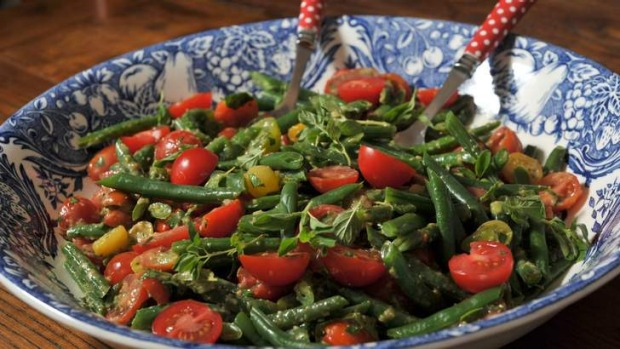 Green bean and tomato salad.