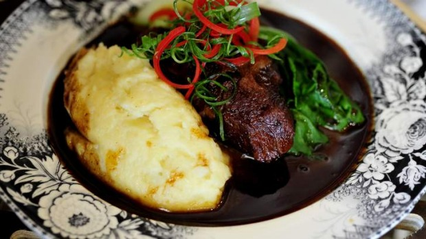 Beautiful: Slow-braised beef cheek.