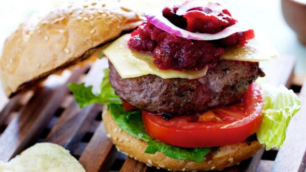 Seasonal fare: Kangaroo burgers rear their heads this time of year.