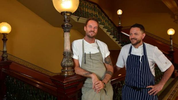 Gentle shake-up: Chefs  Joel Alderson (left) and Benat Alonso.