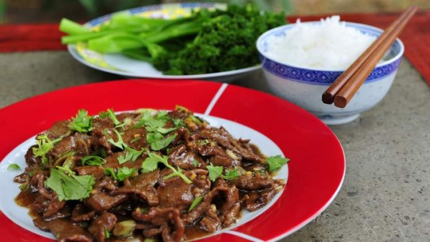 Sichuan quick-fried lamb.