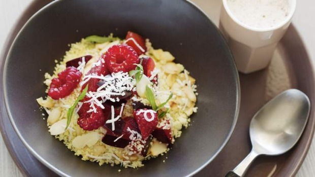 Healthy, flavoursome start to your day: Jill Dupleix's breakfast cous cous with berries.