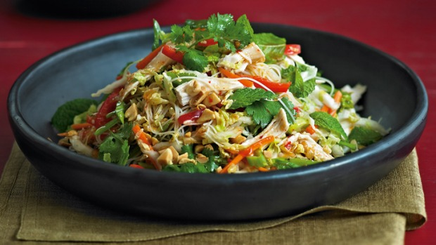 Vietnamese Chicken Salad with Chinese Cabbage and Bean Sprouts