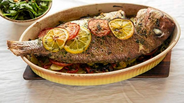 Heads and tails frank camorra 39 s baked fish for How to season fish for baking